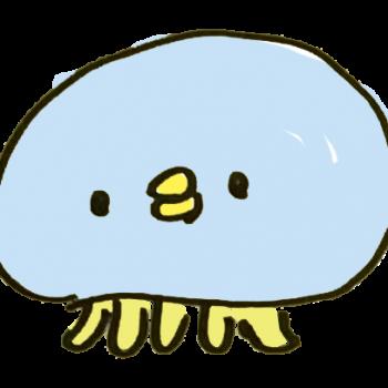ひよこ顔のクラゲのイラスト