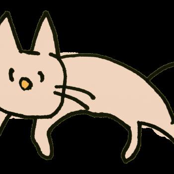 脱力系を極めた猫のイラスト
