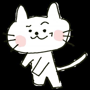 ニヒルな笑みをうかべる猫のイラスト