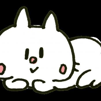 ごろごろする猫のイラスト