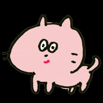 ニヤっと笑う猫のイラスト
