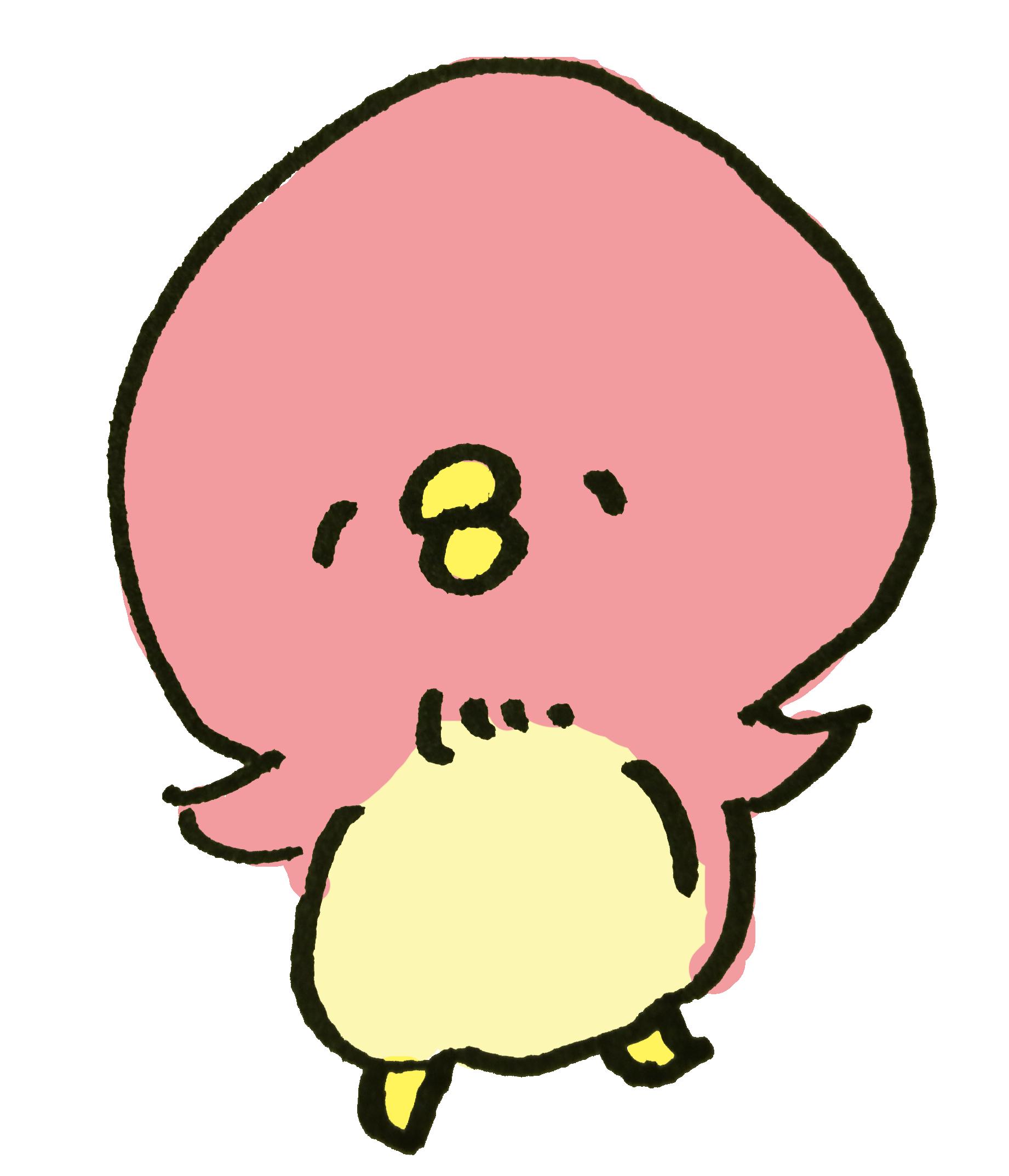 ピンクのペンギン