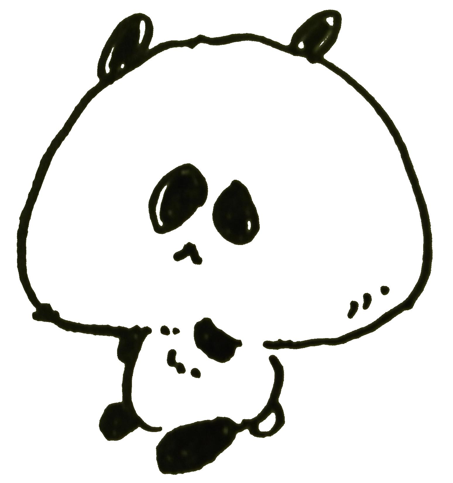 見た目以上にどうもうな動物「パンダ」のイラスト | ゆるくてかわいい