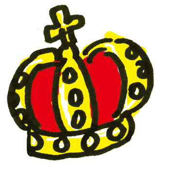 王冠のアイコンのイラスト
