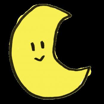 お月さんのイラスト