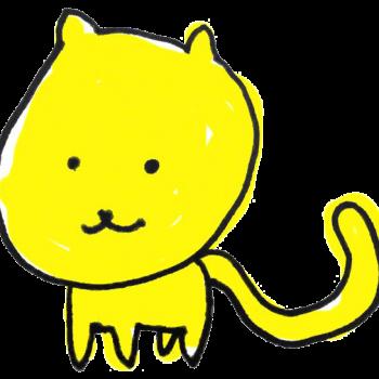 しっぽの長い子猫のイラスト