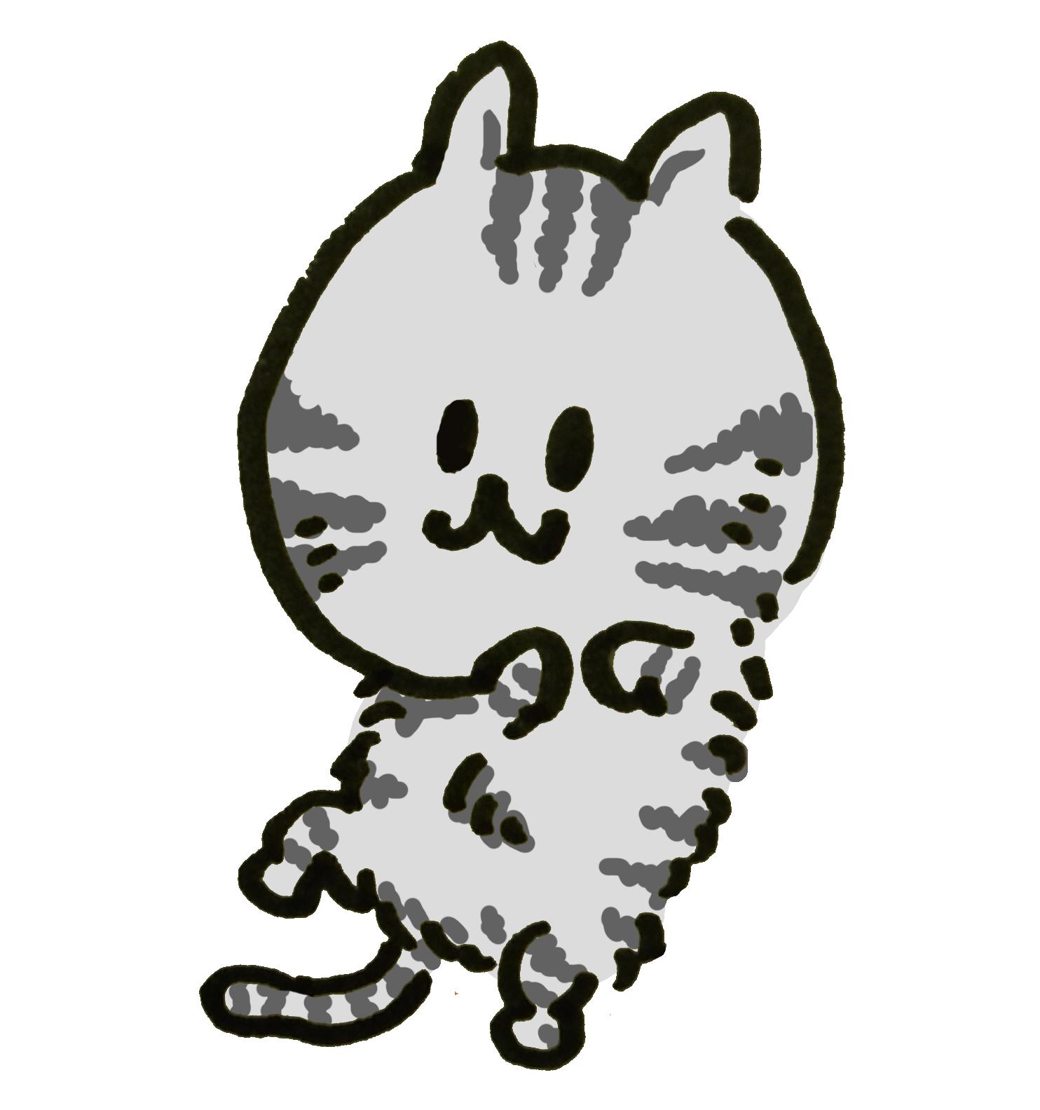 さあ腹をなでてもいいんだよと待つアメショー猫のイラスト