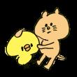 ぺたぺた触る猫