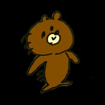 動きのはやい熊さんのイラスト
