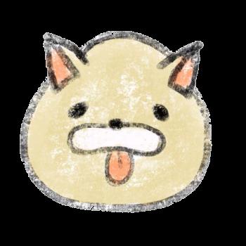 舌を出す犬のイラスト