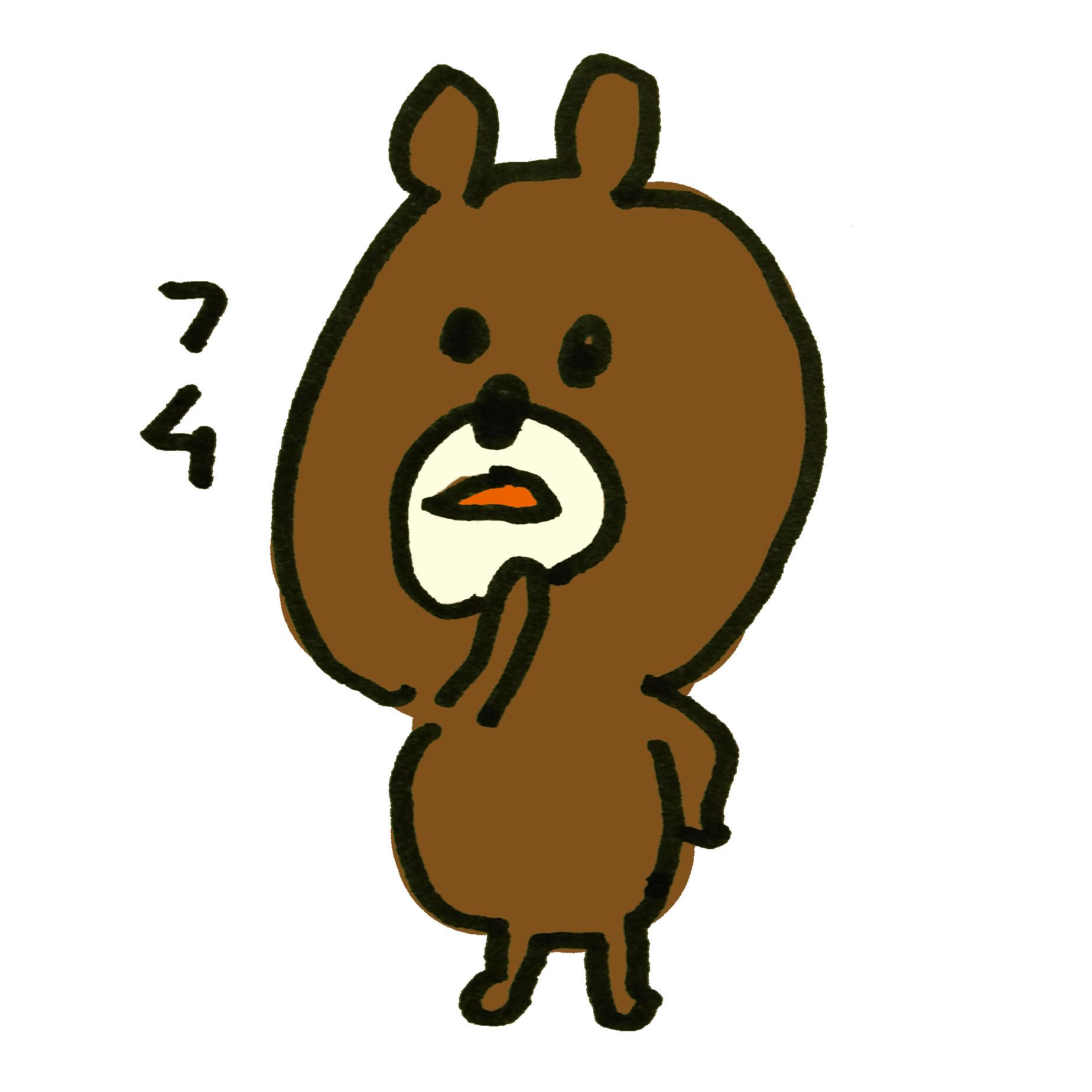 納得する熊