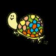 花模様の亀