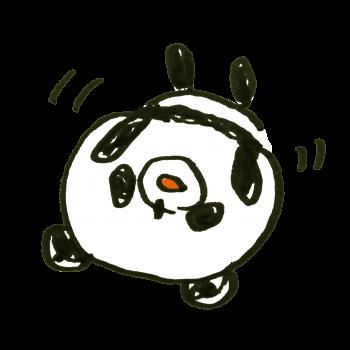 ごろごろするパンダのイラスト