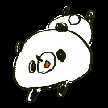 だらけるパンダのイラスト