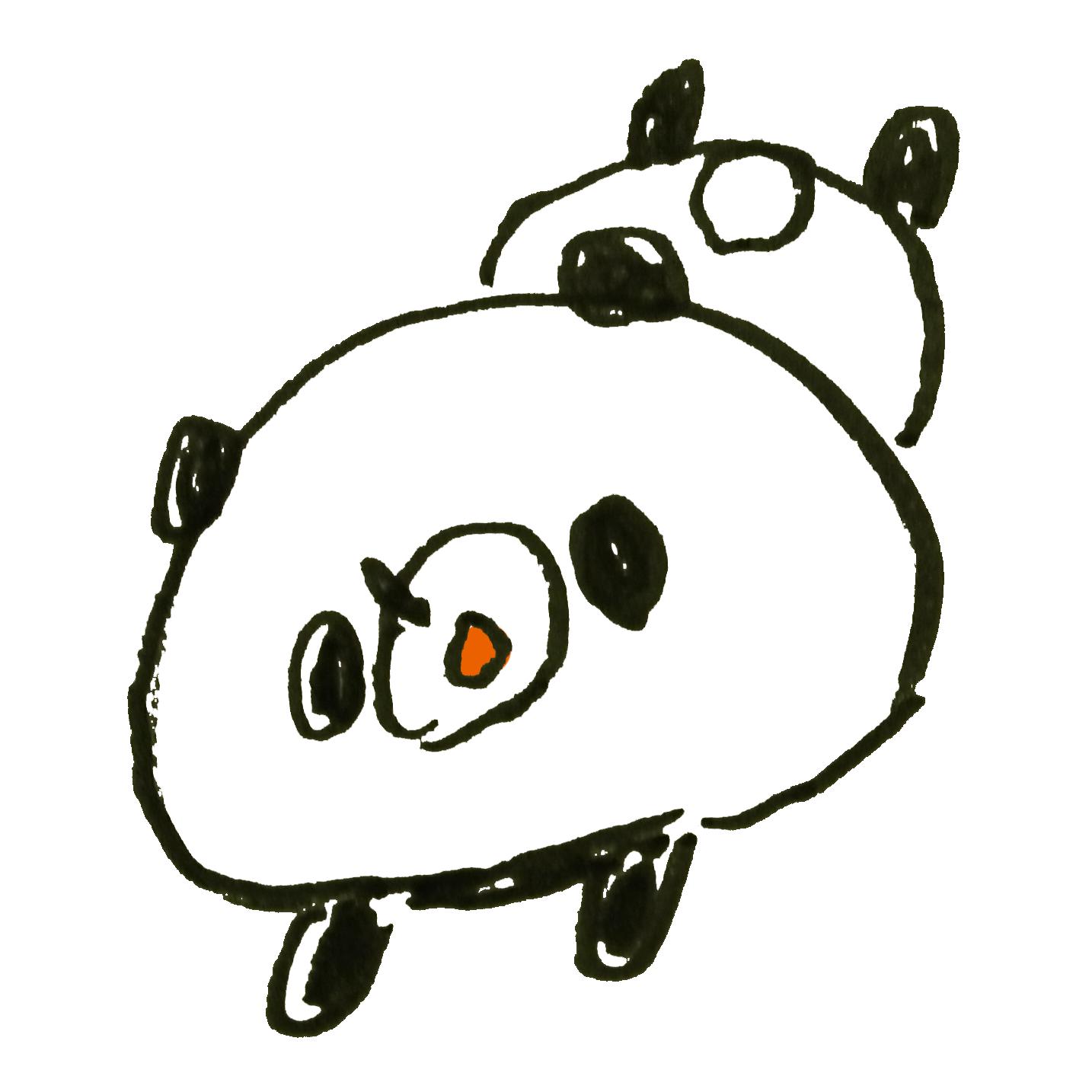 だらけるパンダ