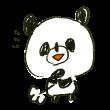 納得するパンダ