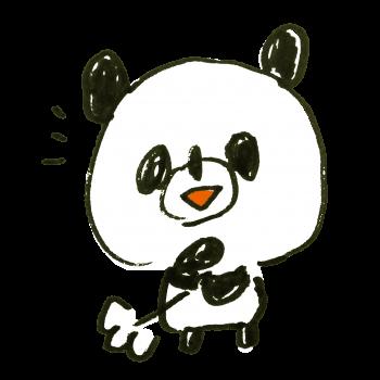 納得するパンダのイラスト