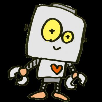 昔ながらのロボットのイラスト