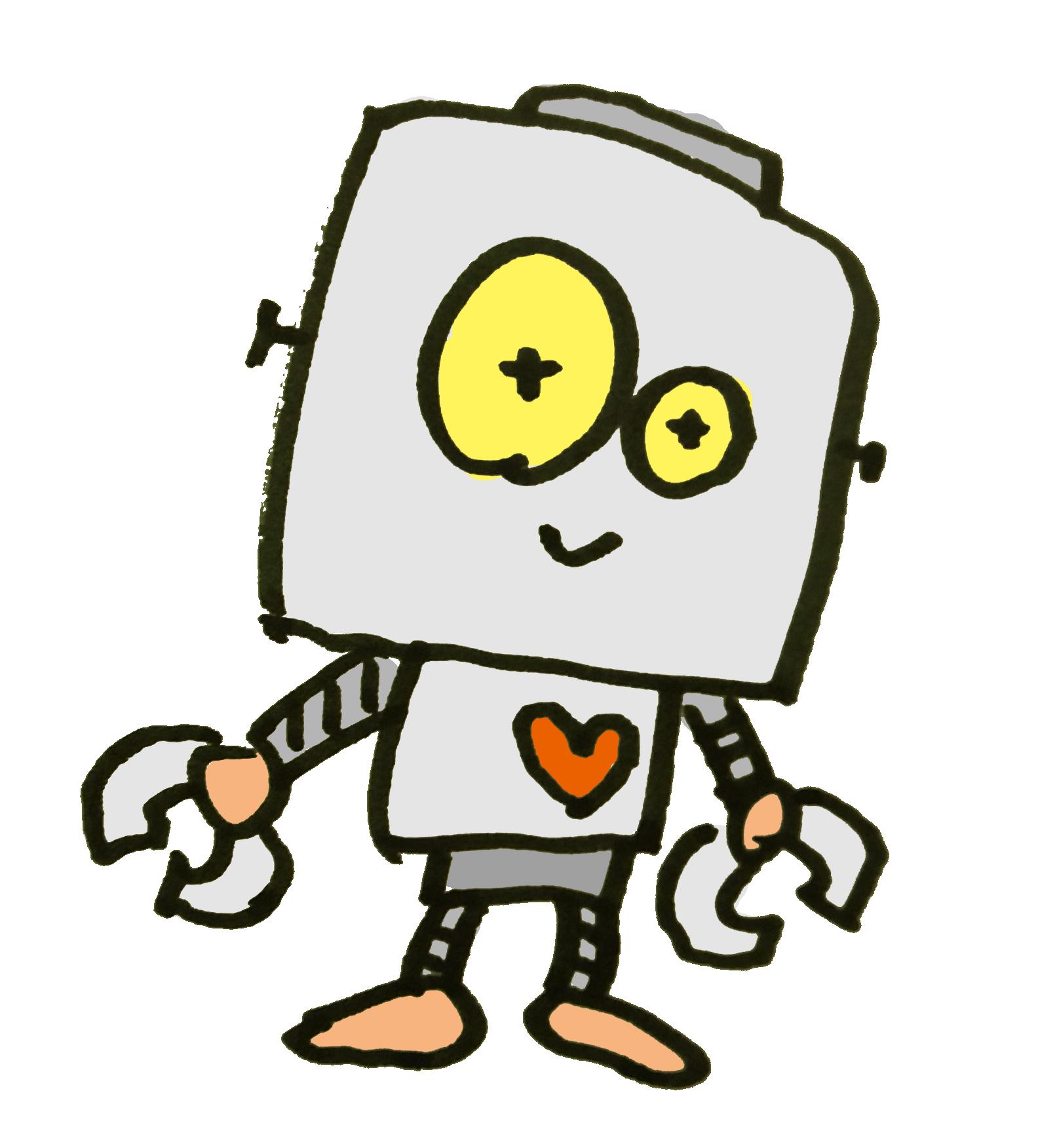 昔ながらのロボットのイラスト | ゆるくてかわいい無料イラスト素材屋