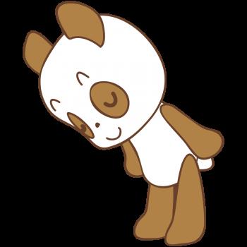 お辞儀をするパンダ君のイラスト