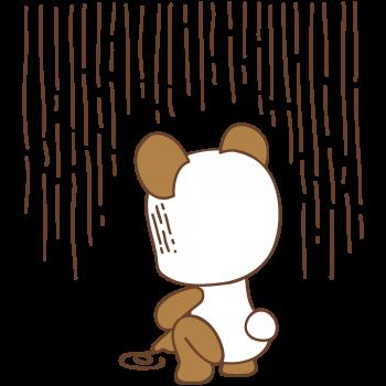 いじけるパンダ君のイラスト