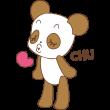 chu!!するパンダ
