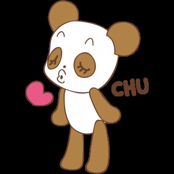 chu!!っとするパンダ君のイラスト