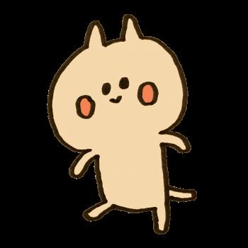 歩く猫のイラスト