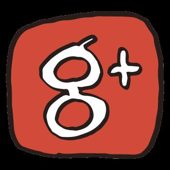 Google+のアイコンっぽいやつ(わくあり)のイラスト