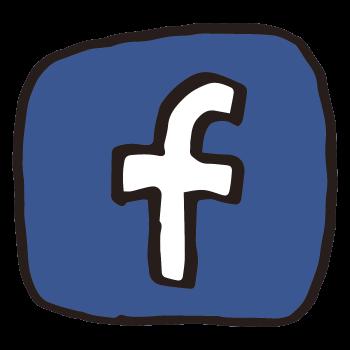 Facebookっぽいアイコンのイラスト