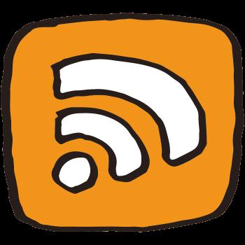 RSSリーダーアイコン(わくあり)のイラスト