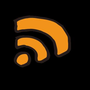 RSSっぽいアイコンのイラスト