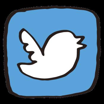 Twitterっぽいアイコン(わくあり)のイラスト