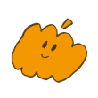ニコニコ笑うおばけかぼちゃ