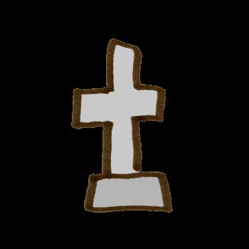 十字架の墓のイラスト