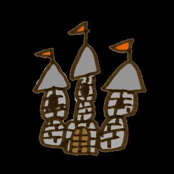 石造りのお城のイラスト