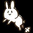 ニヤけながら飛ぶウサギ