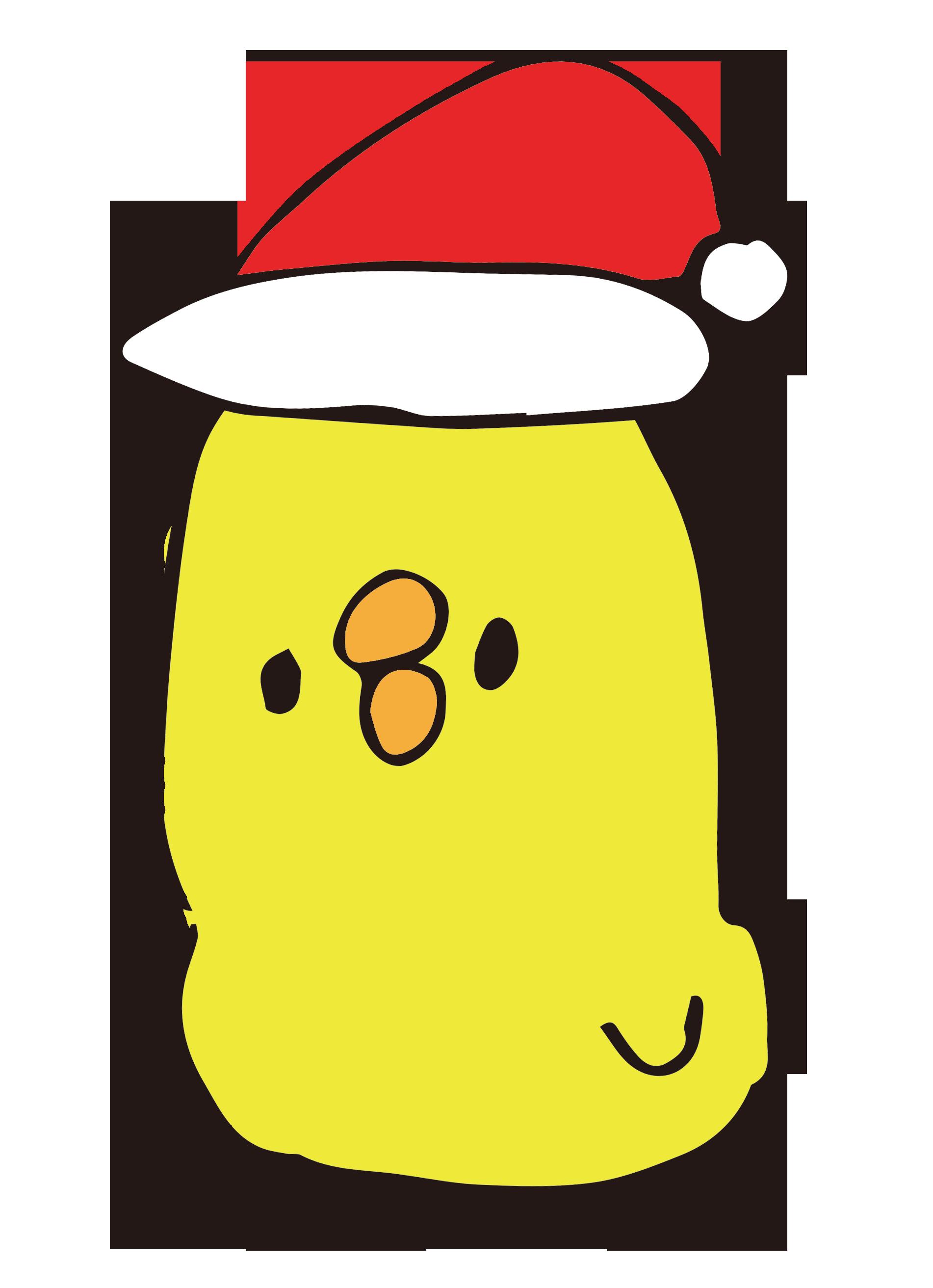 頭が長いクリスマスひよこ