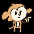 バナナを持つ猿