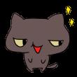 ニヤリと笑う黒猫