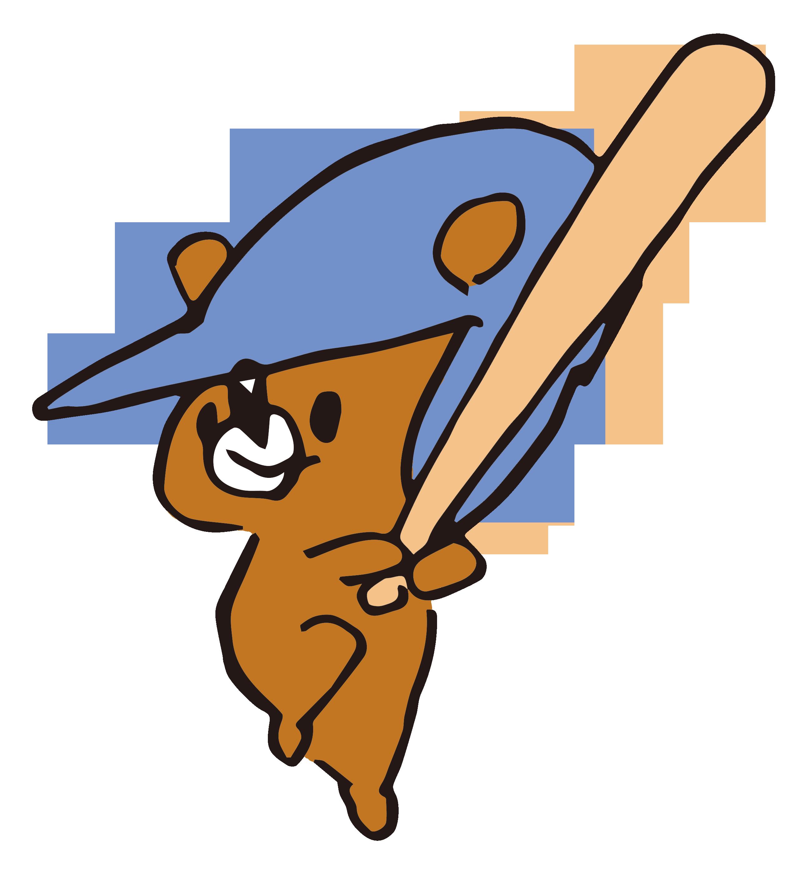 バッティング技術のたくみな熊