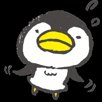 空を飛ぶペンギン(GIFアニメ)のイラスト