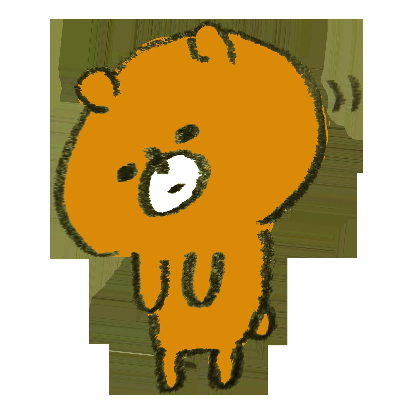 おじぎをする熊のイラスト | ゆるくてかわいい無料イラスト素材屋