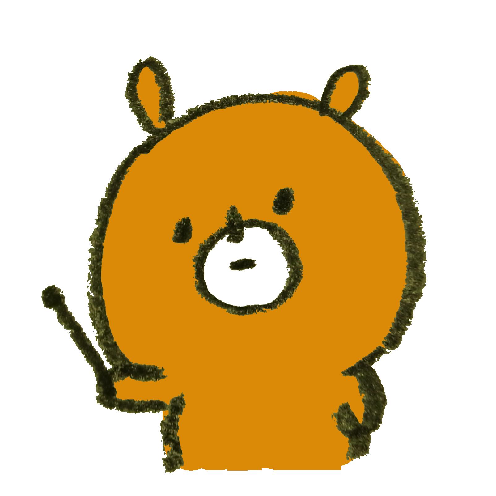 無表情で解説する熊