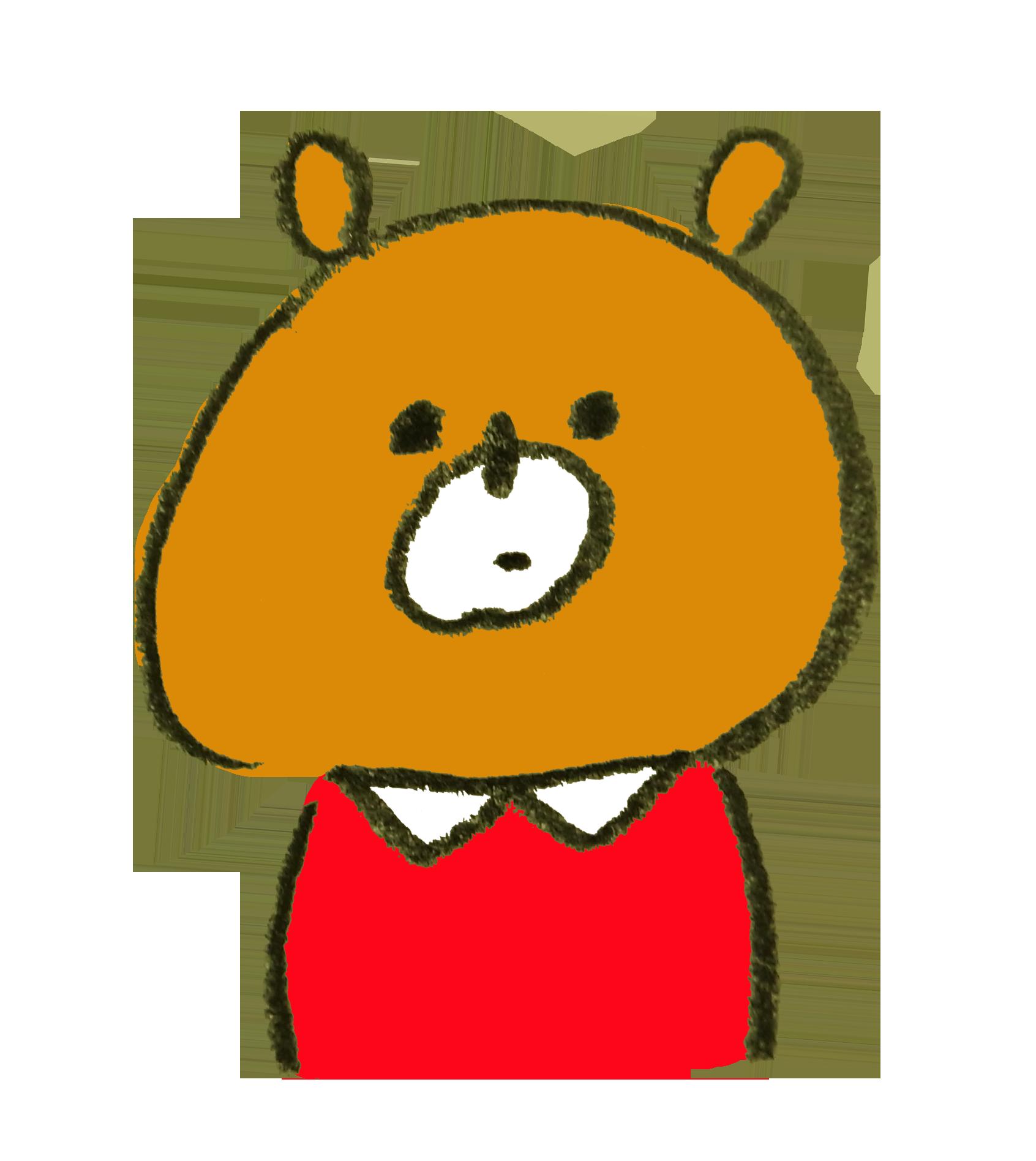服を着ている熊のイラスト | ゆるくてかわいい無料イラスト素材屋