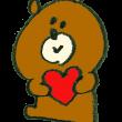 ハートを抱えた熊