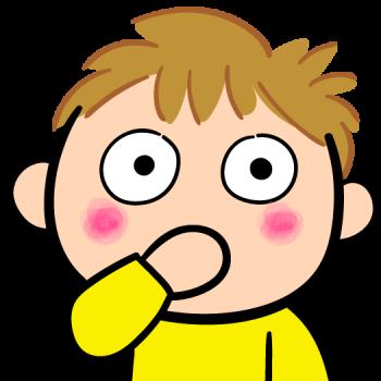 指をしゃぶる子供のイラスト