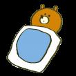 不眠症の熊