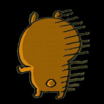 落ち込む熊のイラスト