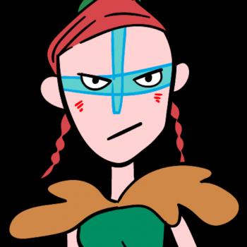 屈強な女戦士のイラスト